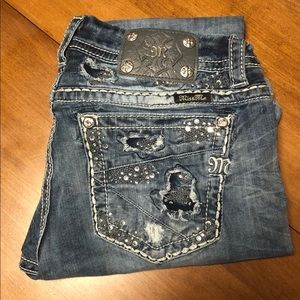 Size 30 Mid Rise Miss Me Jeans